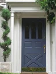Navy Blue Front Door Front Door Ideas Potted Trees Front Doors And Curb Appeal
