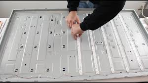 replacing led lights in tv hisense tv led backlight replacement tutorial for no backlights and