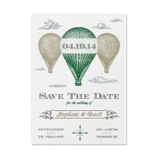 Save The Date Samples Air Balloon Save The Date Sample