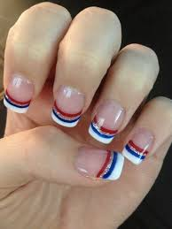 patriotic memorial day 4th if july flag u0026 firework gel nails all