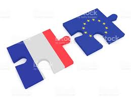 France Flag Images France And Eu Puzzle Pieces French Flag And Eu Flag Stock Photo