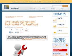 Webmaster Seo Geheimtipp Top Seiten In Google Webmaster Tools