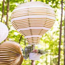 How To Make Paper Air Balloon Lantern - gold white air balloon paper lantern set the knot shop