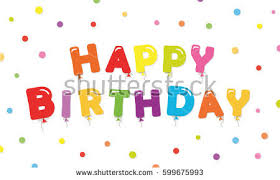 happy birthday balloon banner download free vector art stock