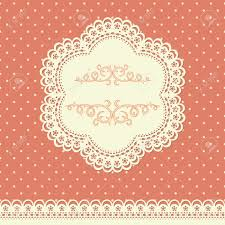 retro background with lace and polka dot wallpaper royalty free