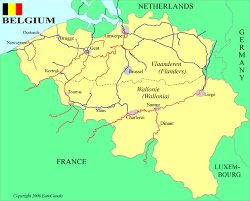 map of begium belgium waterways map
