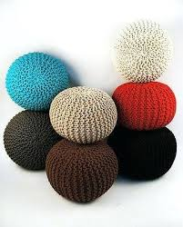Ottoman Knitted Poof Foot Stool Knitted Pouffe Gumball Ottoman Foot Stool Pouf