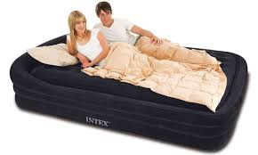 Inflatable Bed With Frame Intex Comfort Frame Queen Air Mattress Raised Queen Air Bed 66971e