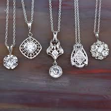 vintage diamond pendant necklace images Levy 39 s fine jewelry jpg