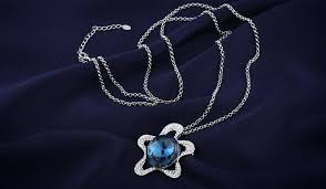 sapphire star necklace images Ocean star sapphire blue necklace jpg