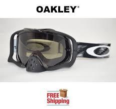 motocross goggles ebay jet black dark grey oakley crowbar speed mx goggle dirt bike