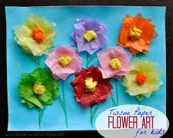 tissue paper tulip kids craft with printable pattern i heart