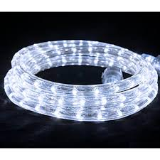 led flexbrite rope light set 9 ft cool white walmart