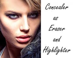 how to apply concealer as eraser and highlighter bellatory