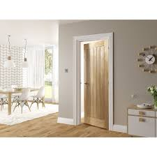 White Oak Veneer Deanta Internal Ely Oak Veneer 5 Panel Door