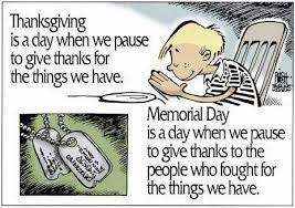thanksgiving vs memorial day s