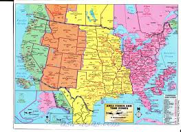 Map Of The Usa With States by Time Zone Map Of Usa With States And Cities My Blog