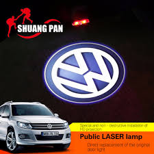 original volkswagen logo 2pcs car led door logo projector ghost shadow light for vw passat