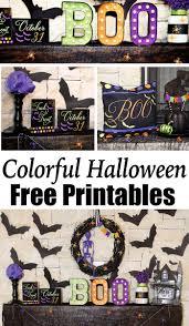 colorful halloween mantel decor free printables lillian hope