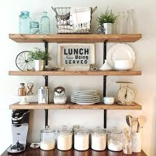 kitchen shelves decorating ideas wall shelves decorating ideas best images on farmhouse style open