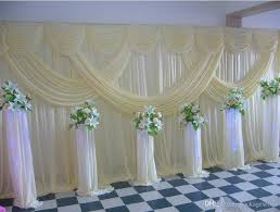 wedding backdrop online a set 3x6m luxury silk wedding backdrop with drape
