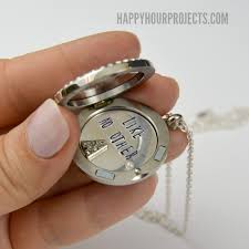 personalized photo lockets how to give a personalized locket gift happy hour projects
