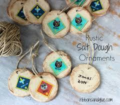 rustic salt dough ornaments
