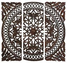 wood medallion wall interesting wood medallion wall white carved wooden panels set