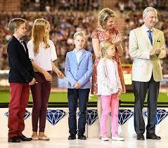 belgian royal family attend the iaaf league 2016 royal