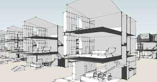 Modern Row Houses - modern house plans by gregory la vardera architect december 2012