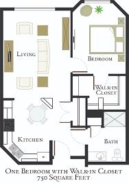 Walk In Closet Floor Plans 1 Bedroom Walk In Apartment