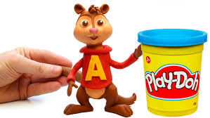 alvin chipmunks play doh stop motion alvin las ardillas