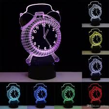 discount led night light lamp changing bedroom lamp 3d alarm clock