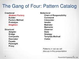of four design patterns design pattern abstract factory singleton