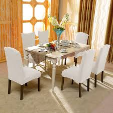 sure fit dining chair slipcovers living room cool dining room with recangular wood dining table and