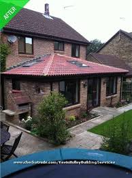 Slanted Roof House Single Storey Extension With Skylights And Slanted Roof To Avoid