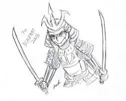 samurai drawing for blackhat2005 ustream sketch by kxela on