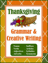 grammar creative writing unit for thanksgiving creations by