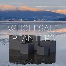 modern large commercial aluminum planters green theory distributors