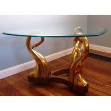 brass swan coffee table brass swan glass coffee table chairish