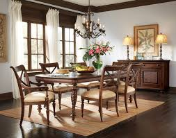 adorble classic high gloss brown varnished wooden carving dining