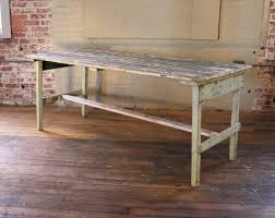 Rustic Wood Desk Vintage Rustic Farm Distressed Folding Dining Work Table Painted