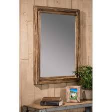 reclaimed wood bathroom mirror reclaimed wood framed mirror wayfair