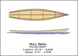 spira international inc rail bird poling skiff