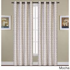 united woven grommet curtain panel 84 sand brown size 54 x 84