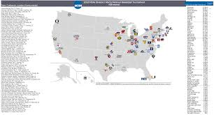 Arizona Strip Map by 2016 Ncaa Men U0027s Division I Basketball Tournament U2013 The 68 Teams
