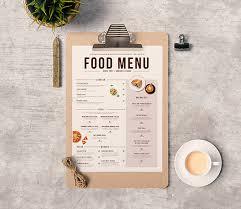 50 free food u0026 restaurant menu templates xdesigns