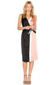 dvf wrap dress diane furstenberg color block crepe de chine wrap dress in