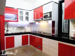 Kitchen Set Minimalis Hitam Putih Dapur Mungil Desain Dapur Furnitur Malang Furnitur Murah Furnitur