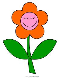 fiori disegni disegno fiore ride da ritagliare mamma e bambini